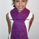 Gorgeous Handmade Double Knit Shades of Purple Scarf
