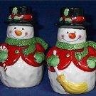 Ceramic Snowman Salt & Pepper Shakers by Burton and Burton