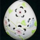 Ganz Ceramic Egg Pink Flowers & Butterfly Tea Light