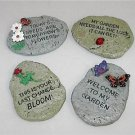 Choice Cute Garden Message Stones Ladybug Butterfly etc