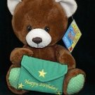 "Russ Happy Birthday Well Wisher 8"" Brown Plush Bear"