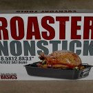 Basics Nonstick Carbon Steel Roaster with Rack 20 lb Turkey capacity