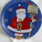 """Cookies for Santa"" 8.5"" Ceramic Christmas Plate"