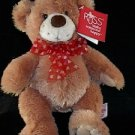 "10"" Stuffed Teddy Bear w/ Hearts Bow"