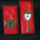 His & Her 'Key to My Heart' Photo Key Rings