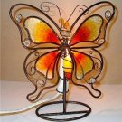 Metal & Capiz Shell Illuminated Butterfly Art Decor