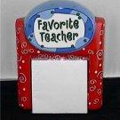 Gift for Teacher Ceramic Note Holder Desk Organizer