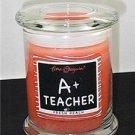 Gift for Teacher A+ Teacher Fresh Peach Candle