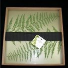 "Studio Spa Aesthetic Decorative Large15"" Square Leaf Fern Bath Serving Tray"