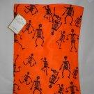 Halloween Skeleton Reusable Trick or Treat Fabric Bag Tote Gift Bag