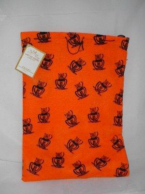 Halloween Black Cat Reusable Trick or Treat Fabric Bag Tote Gift Bag