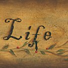 Country Folk Style Live Life Simply Wood Wall Plaque 20 x 5.25