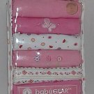 babyGear Tagless Girls BodySuits 6 pack Baby Infant Layette