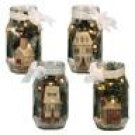 Betty Caithness Winter Village Lighted Glass Jar Collection Set of 4