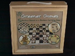 Greener Games 5 Bamboo Games in a Bamboo Carrying Case