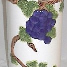 8.25 Inch Tall Hand Painted Ceramic Wine Chiller
