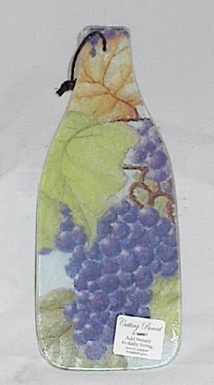Grape Themed Tempered Glass Kitchen Cutting Board