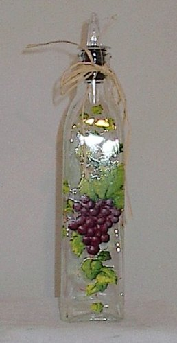 Ganz Bella Casa Gourmet Glass Cruet Oil Bottle Grape Themed