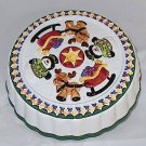 Christmas Themed Ceramic Pie Cake Cover