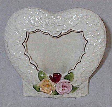 Porcelain Heart Photo Frame