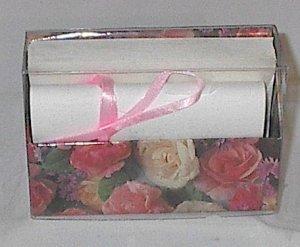 Floral / Flower print Stationery Set with Holder