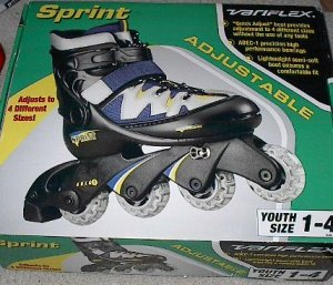 On Sale - Sprint Variflex Adjustable Inline Youth Roller Blades Skates Size 1 - 4