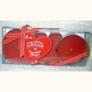 Valentine's Day Hugs and Kisses Cinnamon Scented Candle Ensemble