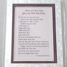 Blue Mtn Easel-back w/ Magnet Love print 'After All This Time...'