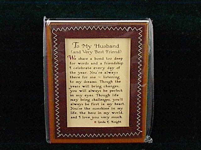 Blue Mountain Arts Easel-back Love print 'To My Husband and Very Best Friend'