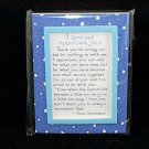 Blue Mountain Arts Easel-back w/ Magnet Love print 'I Love and Appreciate You'