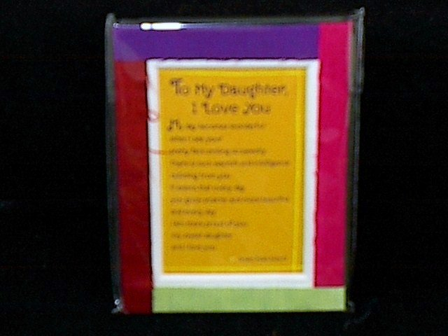 Blue Mountain Arts Easel-back Love print 'To My Daughter, I Love You'