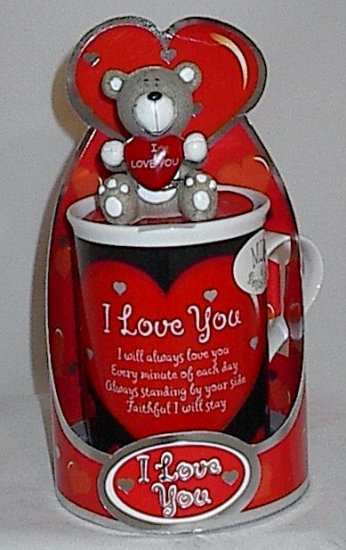 I Love You Mug with Bonus Little Bear