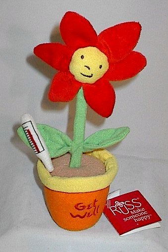 """Russ Message Flower """"Get Well"""" with 'Thermometer'"""