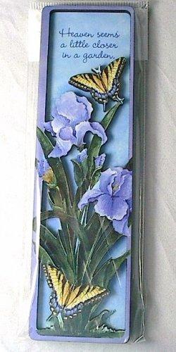 """Butterfly Garden Inspirational Magnet """"Heaven seems a little closer...."""""""