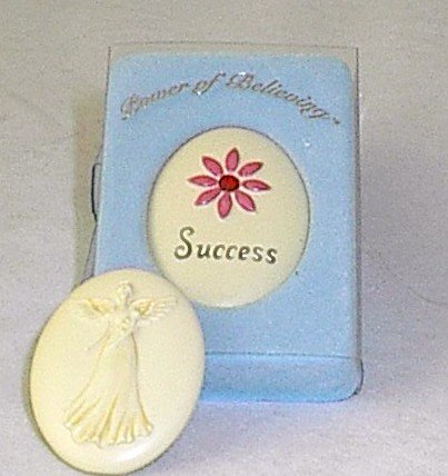 Handpainted Power of Believing 'Success' Angel in my Pocket Stone