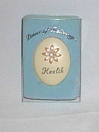 Handpainted Power of Believing 'Health' Angel in my Pocket Stone