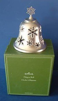 Hallmark 2005 Filigree Snowflake Pattern Bell NEW