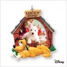 Hallmark Keepsake Ornament Photo Holder 2007 Lucky Dog Pluto