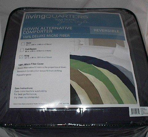 King Size Down Alternative Hypoallergenic Reversible Navy Blue Comforter