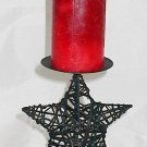 Star Shaped Rattan Candle Holder