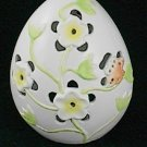 Ganz Ceramic Egg Yellow Flowers & Butterfly Tea Light