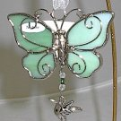 Ganz Silver & Green 'Nature' Hummingbird Butterfly Car Charm Ornament
