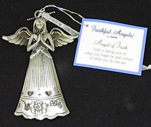Ganz Faithful Angels 'Angel of Faith' Pewter Ornament