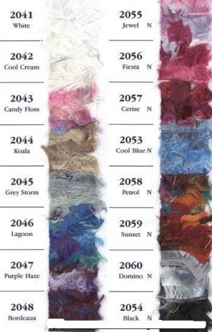 32% Discount on Wendy Shimmer Eyelash Yarn 2042 Cool Cream