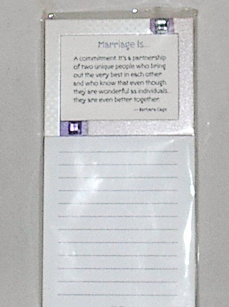"Blue Mountain Arts Inspriational Magnetic List Note Pad ""Marriage Is"""