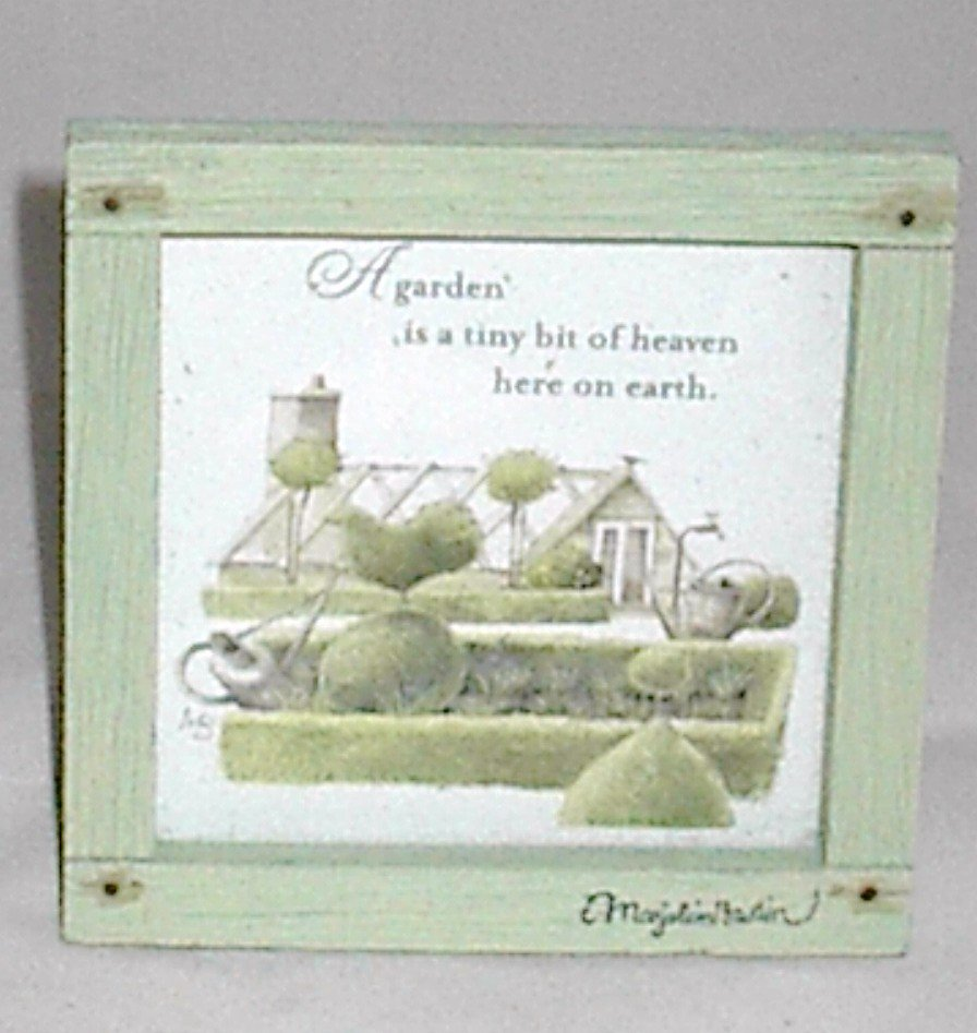 "Hallmark Marjolein Bastin Nature's Sketchbook ""A Garden is"" 4.5 x 4.5 Plaque"