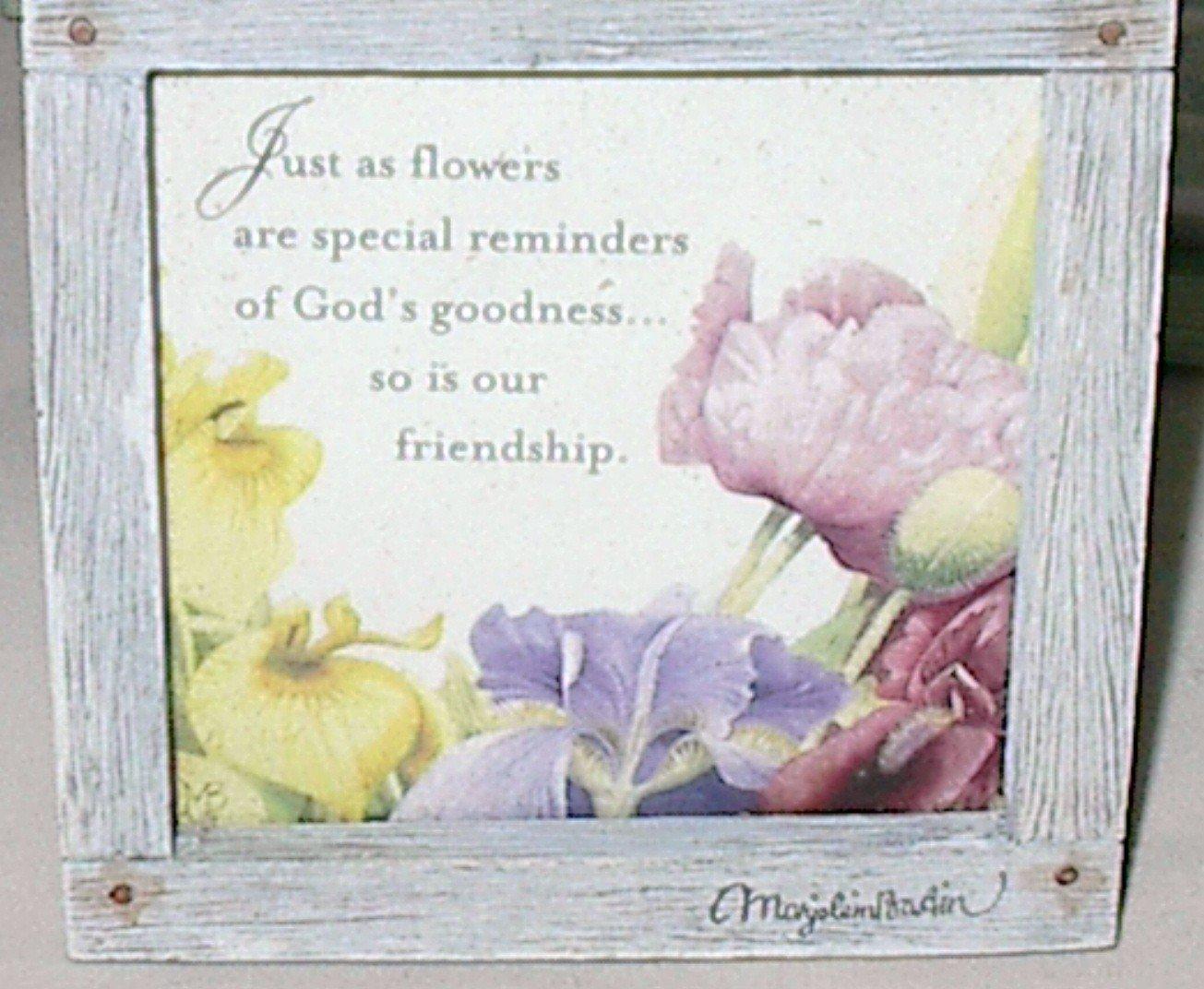 """Hallmark Marjolein Bastin Nature's Sketchbook """"Our Friendship"""" 4.5 x 4.5 Plaque"""