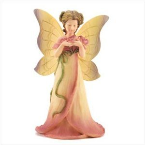 Cloudworks Floral Girls Fairy 7 Inch Peony Statue 42304