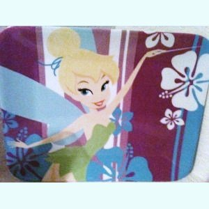 Disney Store Exclusive Summer Time Fun Tinkerbell Flowered Luncheon Plate