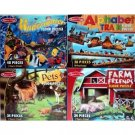 4 Jumbo Floor Puzzle Sets: Alphabet Train, Pets, Farm Friends, & Underwater Melissa & Doug
